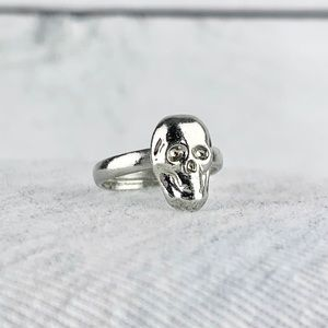 Jewelry - Dainty Skull Ring Adjustable Silver Tone
